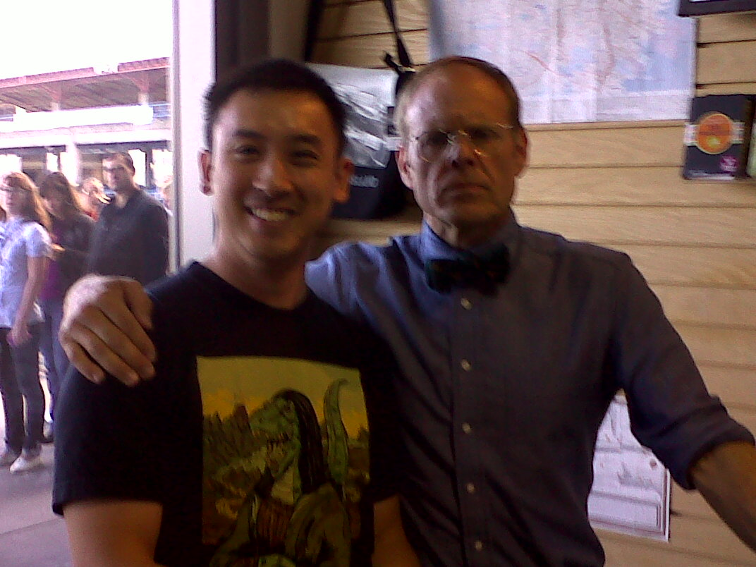 Yes, that is Alton Brown and myself.
